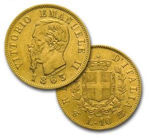10 Lire di Vittorio Emanuele II
