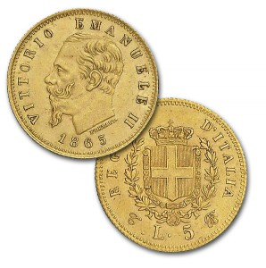 5 lire Vittorio Emanuele II Re d'Italia