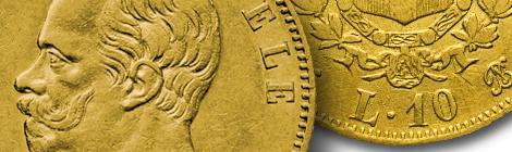 Vittorio Emanuele II – 10 lire 1861, 1863, 1865