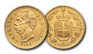 20 Lire Umberto I